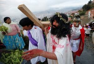 APTOPIX Bolivia Holy Week