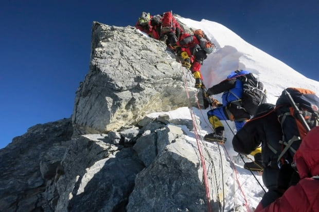 Nepal Crowded Everest