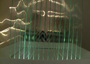 Curling glass project Grenfell art exhibit