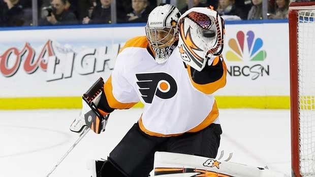 Ray Emery and Philadelphia battled the New York Rangers on competitive terms in Game 1 until the third period.
