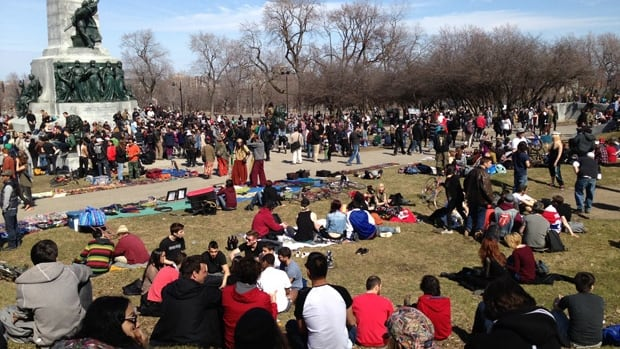 Montreal would have to make an exception to Quebec's proposed legislation in order to allow marijuana at public events, including the tam-tams. Weed has long been tolerated at the foot of Mont-Royal, where the tam-tams are held every Sunday when the weather is fine.