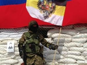 Gunmen standing outside city council in slaviansk
