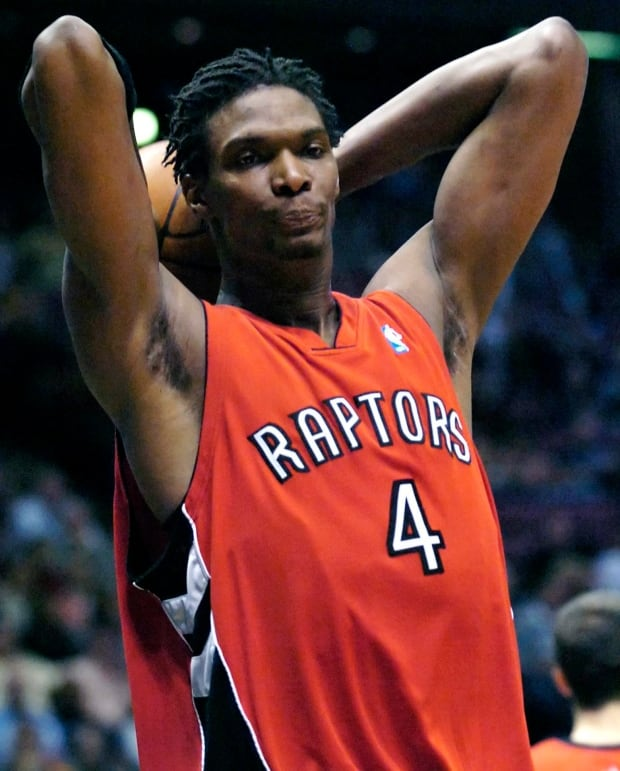 Chris Bosh seen in 2007 playoff elimination game