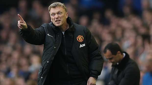David Moyes is seen Saturday, a loss for Manchester United against his old club, Everton.