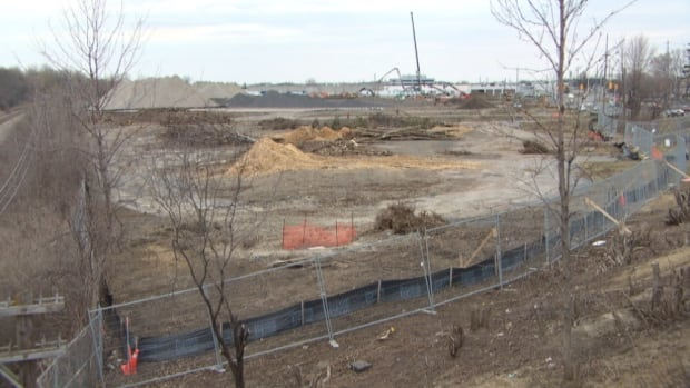 This future site of an Ottawa light rail maintenance facility borders the eight streets of Eastway Gardens in east Ottawa.