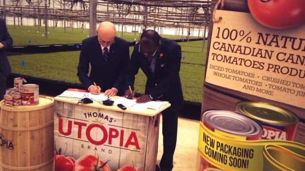 Thomas Canning of Maidstone, Ont., has signed a $25-million tomato product deal with a Nigerian company.
