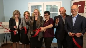 Macdonald Youth Services shelter ribbon cutting