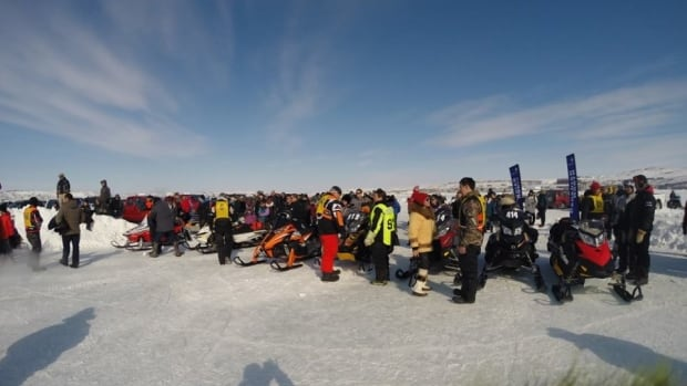 After almost a decade in hiatus, organizers of the annual Toonik Tyme festival managed to bring back the Iqaluit to Kimmirut snowmobile race.
