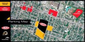 Tim Hortons stadium parking map