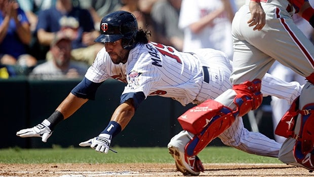 Outfielder Darin Mastroianni appeared in seven games for the Minnesota Twins this season, going 0-11.