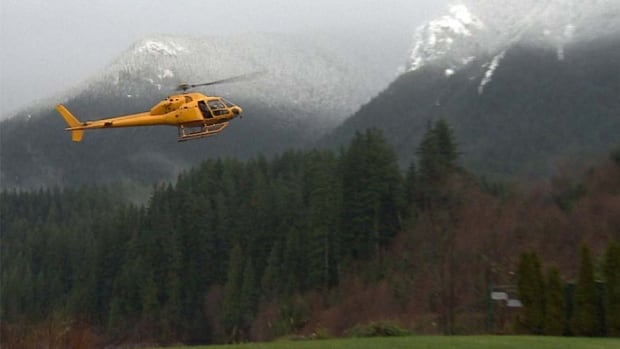 A plume of smoke was spotted late Tuesday afternoon in the watershed west of Capilano lake on Grouse Mountain
