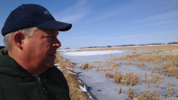 Brent Wilson said his land is flooded and has been for the past dozen years.