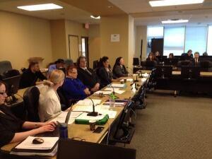 Manitoba Hydro ratepayers at PUB meeting