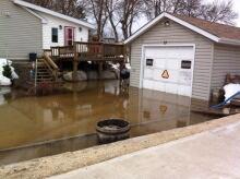 17 Jenny Drive flooded, Petersfield, Man.