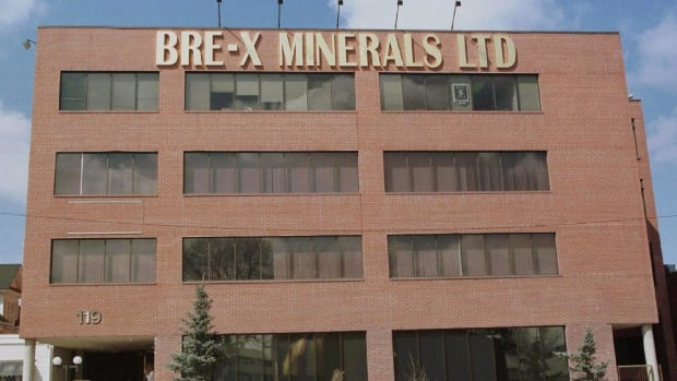 The Bre-X Minerals building is shown in Calgary on May 2, 1997. The lengthy battle by Bre-X investors to recover billions in Canada's largest mining fraud appears to be over after a judge dismissed two lawsuits.