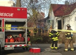 Fire crews doused cooking fire