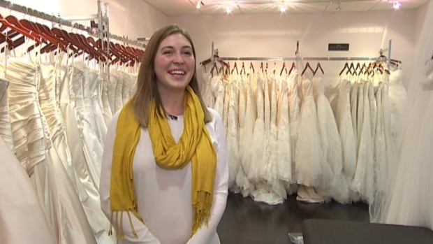 Amanda Dunnigan-Flottorp, in her bridal shop NWL Fashions in Regina, says she see many brides-to-be with big plans for their weddings.