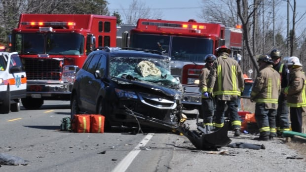 A Burlington man was transported to Hamilton General Hospital after a head-on crash in Milton on Wednesday afternoon.