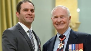 Daniel Morrison and Governor General David Johnston