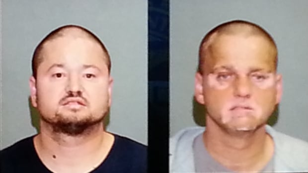 Police have arrested brothers Raymond Savoie, 43, right, and Michel Savoie, 40, left, in connection with multiple sexual assaults of a four-year-old girl between 2010 and 2012. Two males, now 18 and 17, have been charged as well.