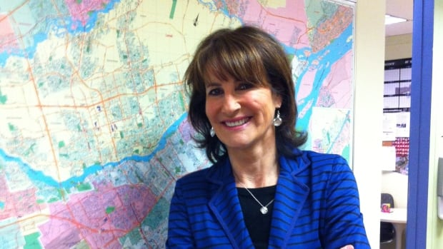 Liberal Minister of Immigration, Diversity and Inclusiveness Kathleen Weil in the studio of CBC Radio's Daybreak.