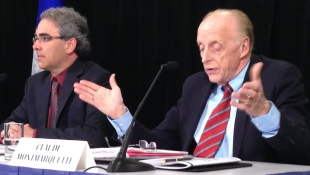 "Economists Luc Godbout (left) and Claude Montmarquette say they believe the balanced budget targeted by the Liberal government for 2015-2016 ""will require going beyond annual expenditure reviews,"""