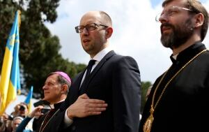 UKRAINE-CRISIS/YATSENIUK-ROME