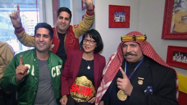 Mayoral candidate Olivia Chow was honoured by The Iron Sheik after the wrestler was stood up by mayor Rob Ford Saturday, April 26.