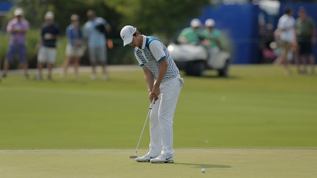 Seung-Yul Noh putts on the 17th green in the Zurich Classic of New Orleans at TPC Louisiana in Avondale, La., on Saturday.
