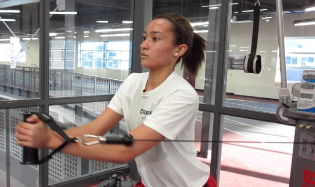 Hailey Brown working out