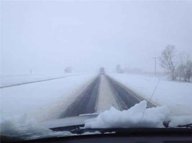 Snowy conditions in Saskatchewan skpic
