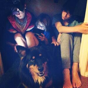 Kyran Pittman kids, dog closet Arkansas tornado