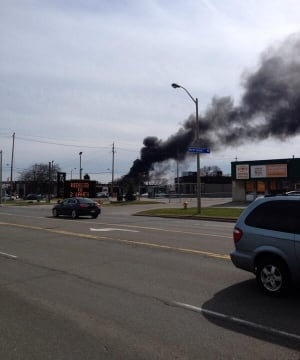 One-alarm fire on The Queensway