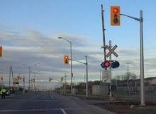 Fallowfield rail crossing