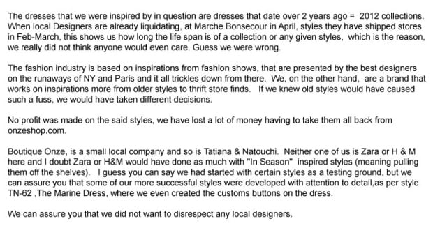 email from boutique onze