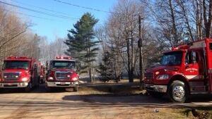 North Shore Fire Department trucks