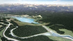 McLean Creek dry dam (artist rendering)