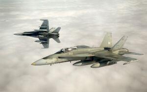UKRAINE-CRISIS-NATO-CANADA-CF-18-FIGHTERJETS