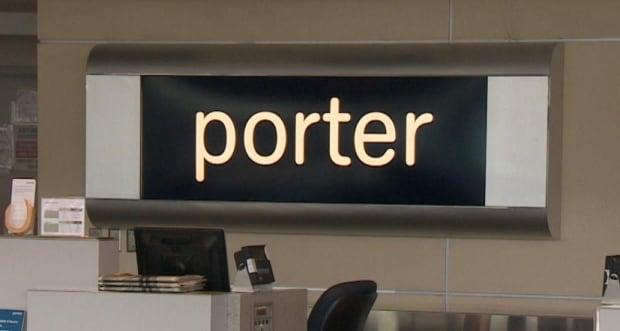 Porter Airlines sign St. John's