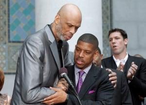 Kevin Johnson-Kareem Abdul-Jabbar-Donald-Sterling