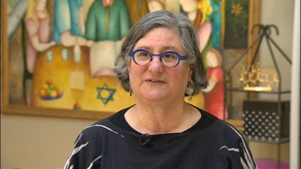 Judy Shapiro of the Calgary Jewish Federation says the swastika painted on the door of a Jewish outreach centre is discouraging.