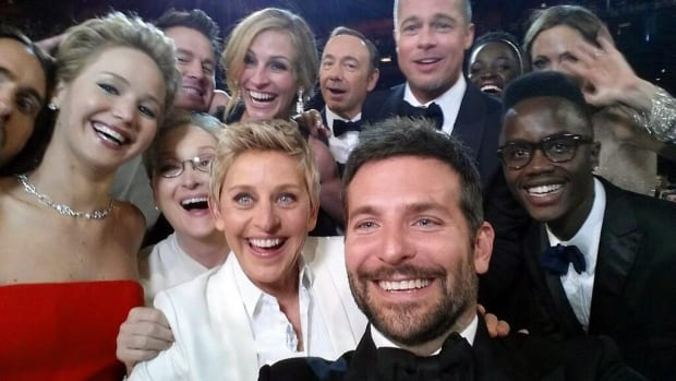 Ellen DeGeneres's star-studded selfie taken as she hosted the Academy Awards on March 2, 2014, was retweeted more than one million times in less than an hour and set a Twitter record.