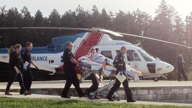 This image of one of the Nanaimo shooting victims arriving at Victoria General Hospital was posted on Twitter by @dustypupVi.