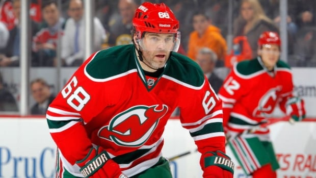 Jaromir Jagr led the New Jersey Devils with 43 assists and 67 points this past season.