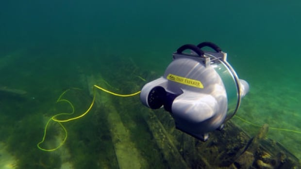 Deep Trekker's underwater robot is being used in the search for bodies after the Sewol ferry sunk off the coast of South Korea on April 14, 2014.