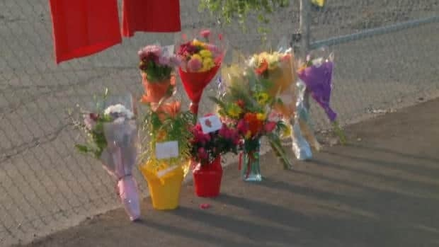 Families and friends have been placing flowers at a makeshift memorial set up near the Nanaimo mill. Workers will be returning to work tomorrow and counsellors will be on hand.