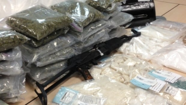 A police bust in Calgary by the Alberta Law Enforcement Response Teams (ALERT) yielded nearly $1 million worth of illegal drugs and a fully automatic AK-47 assault rifle.