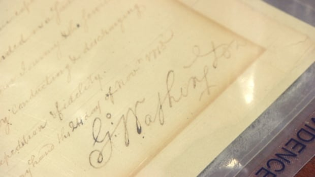 This letter, written by George Washington before he was president, was returned to Dalhousie University on Thursday.