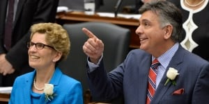 Premier Wynne and Finance Minister Sousa on Budget Day