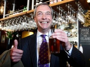 Nigel Farage at the pub